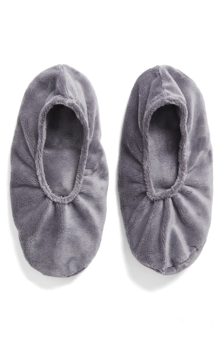 SONOMA LAVENDER Solid Charcoal Grey Footies, Main, color, 000