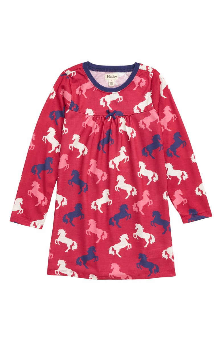 HATLEY Playful Horses Nightgown, Main, color, 650