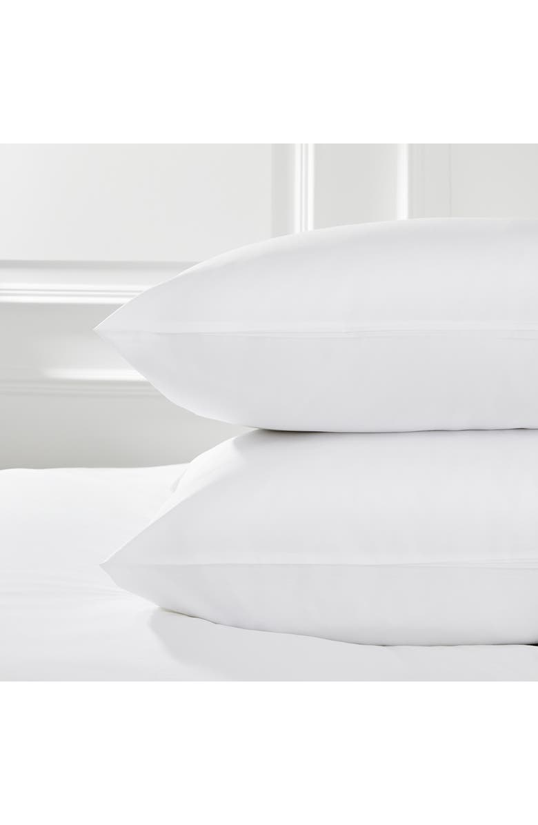 THE WHITE COMPANY Luxury Savoy 400 Thread Count Sham, Main, color, WHITE/WHITE