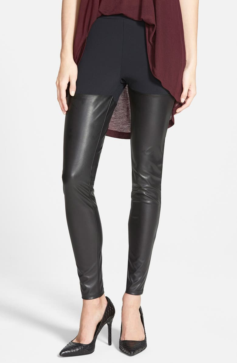 LEITH Faux Leather Leggings, Main, color, 001