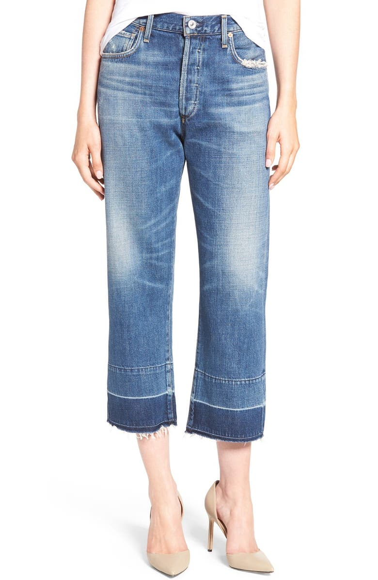 CITIZENS OF HUMANITY Cora High Waist Released Hem Boyfriend Jeans, Main, color, 426