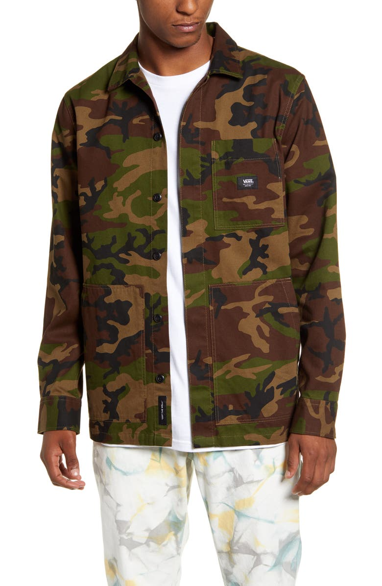 VANS Fullerton Camo Chore Jacket, Main, color, 251