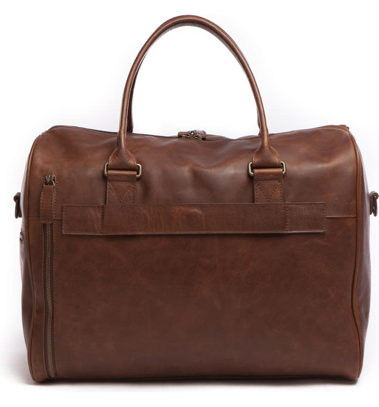 MOORE & GILES Booker Leather Duffle Bag, Main, color, 209