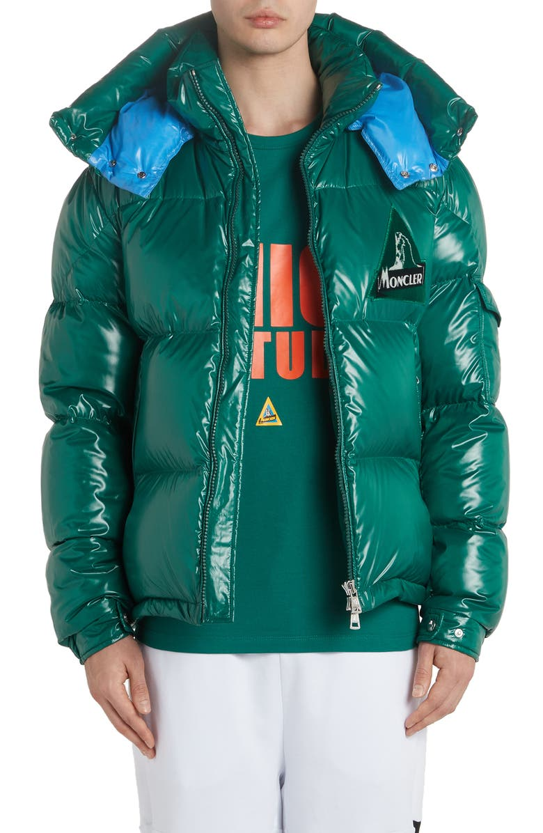 MONCLER Wilson Hooded Quilted Down Puffer Jacket, Main, color, 305