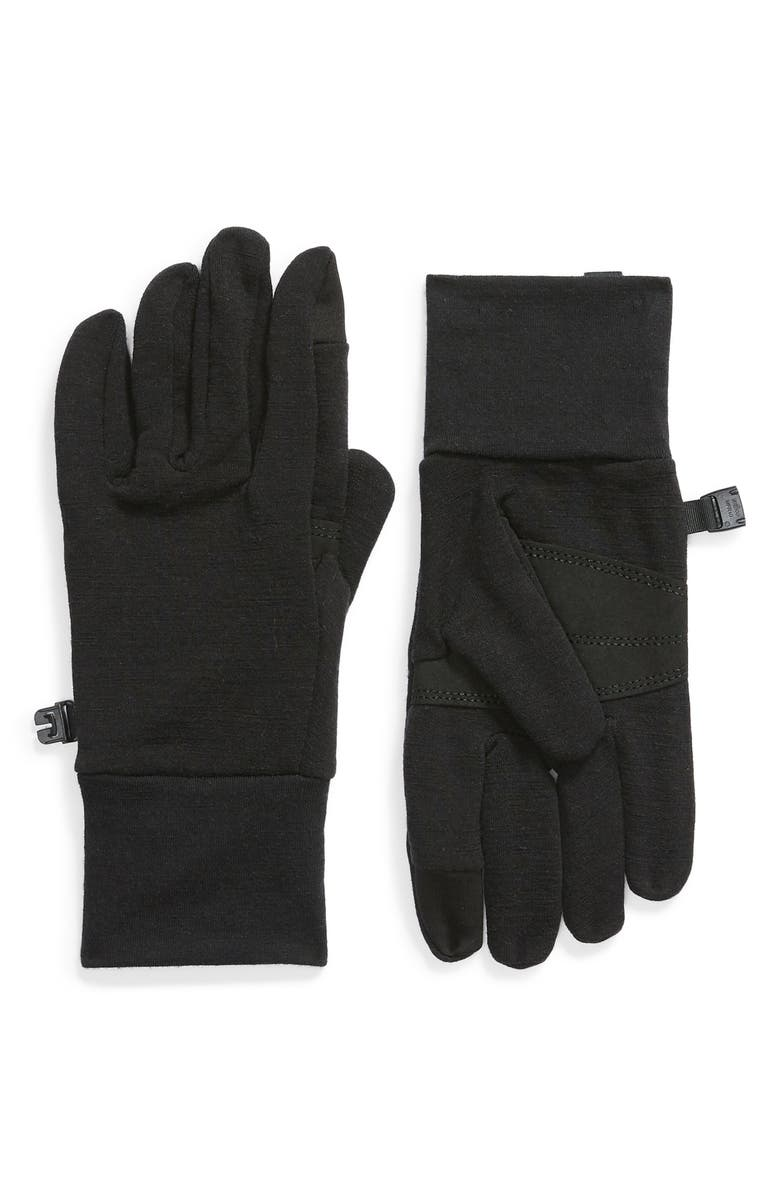 ICEBREAKER Sierra Tech Touchscreen Compatible Fleece Gloves, Main, color, BLACK