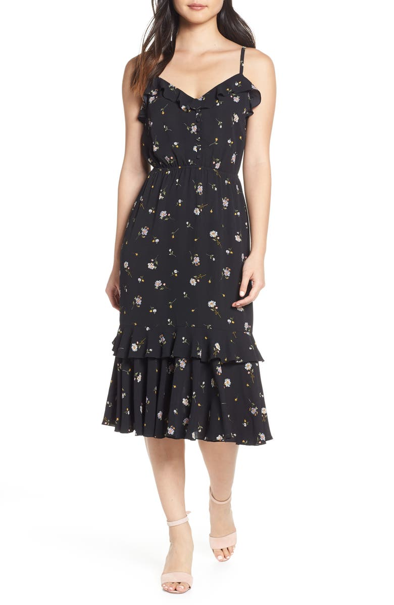 ALI & JAY Cloud Steps Floral Midi Dress, Main, color, 002
