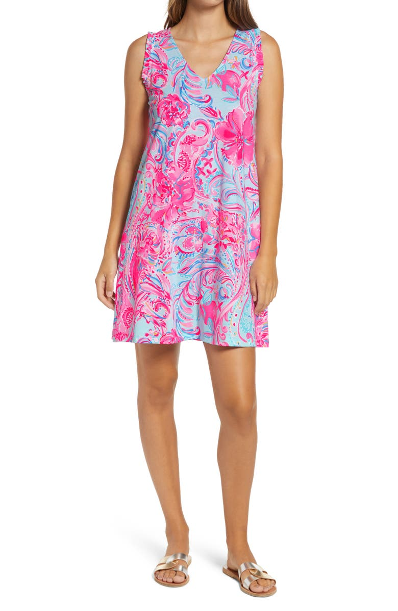 LILLY PULITZER<SUP>®</SUP> Aron Shift Dress, Main, color, 440