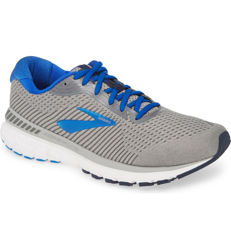 BROOKS Adrenaline GTS 20 Running Shoe, Main, color, GREY/ BLUE/ NAVY