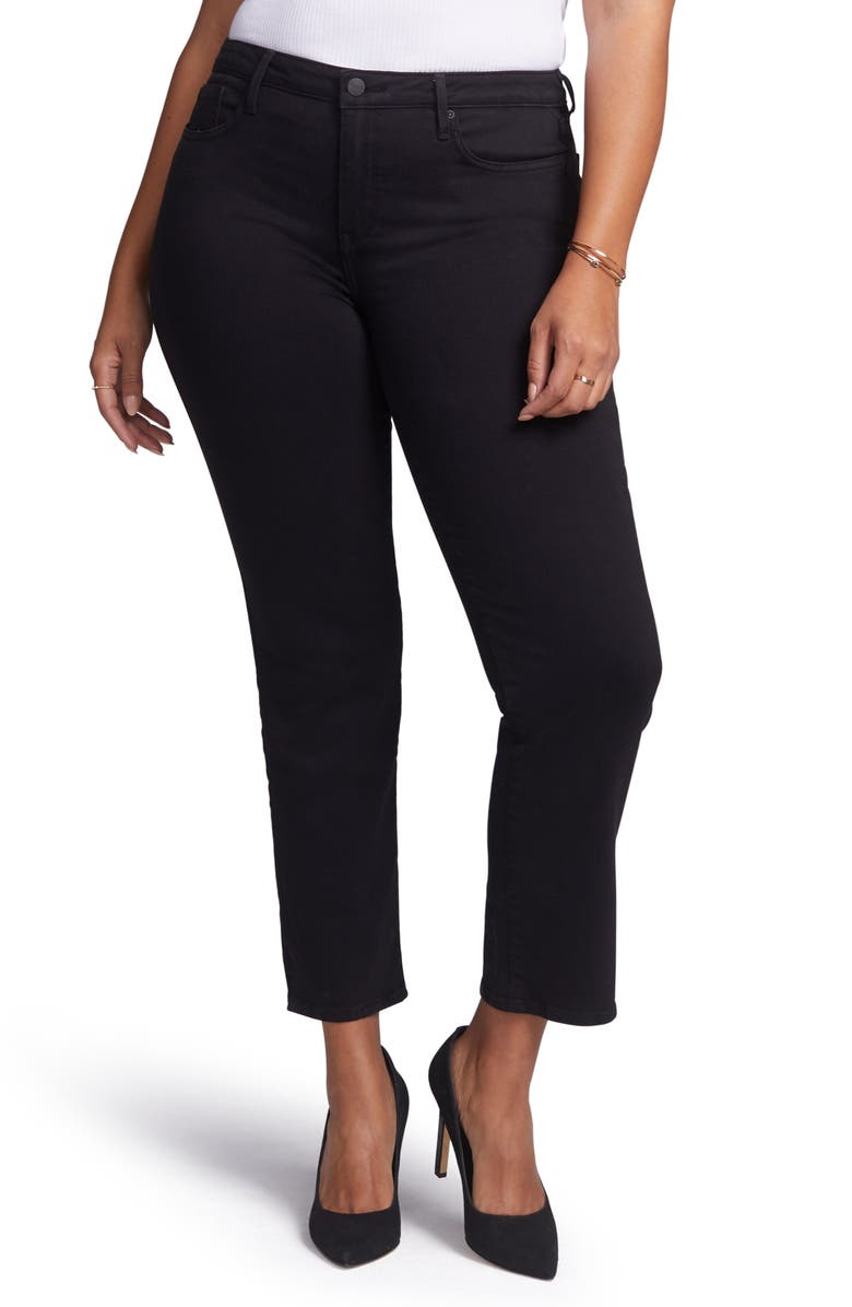 CURVES 360 BY NYDJ Slim Straight Leg Ankle Jeans, Main, color, NO_COLOR