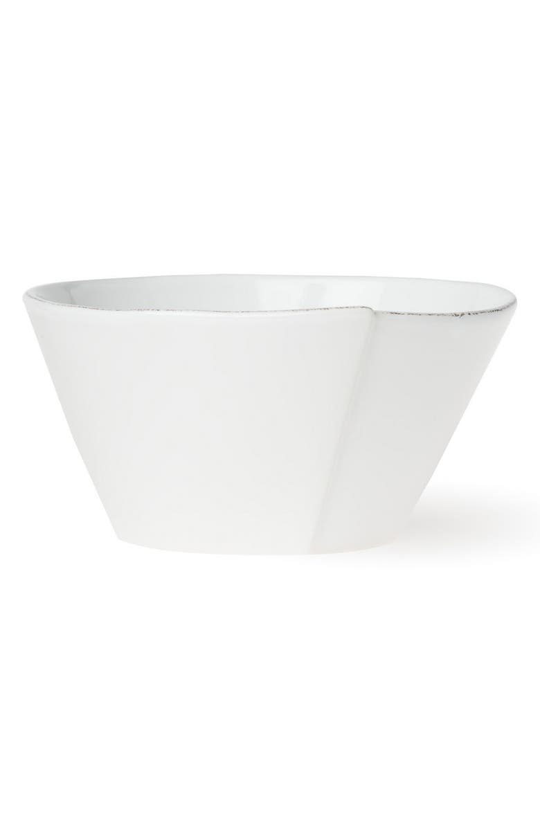 VIETRI Lastra Serving Bowl, Main, color, WHITE