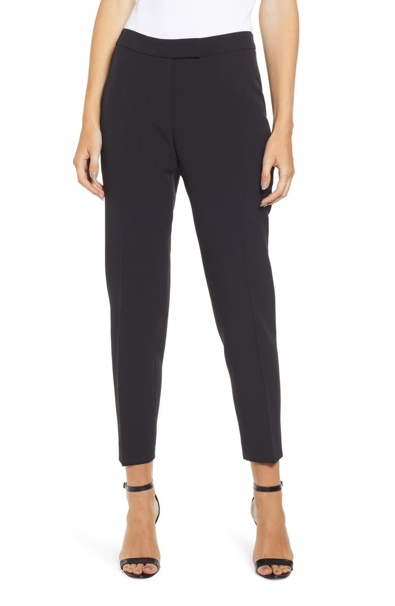 ANNE KLEIN Slim Stretch Woven Pants, Main, color, ANNE BLACK