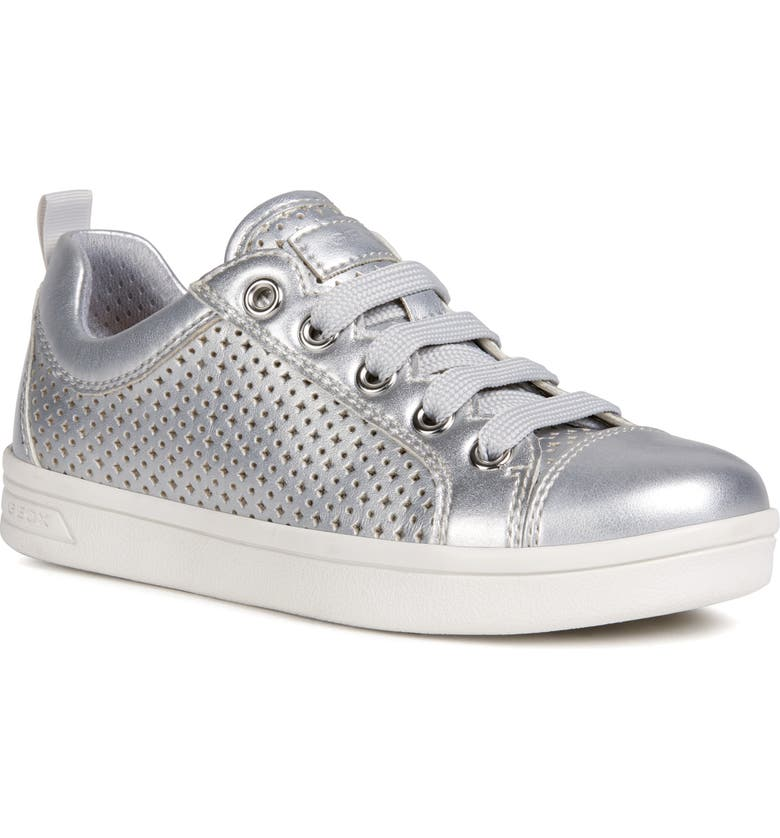 GEOX DJ Rock 48 Metallic Low Top Sneaker, Main, color, 040