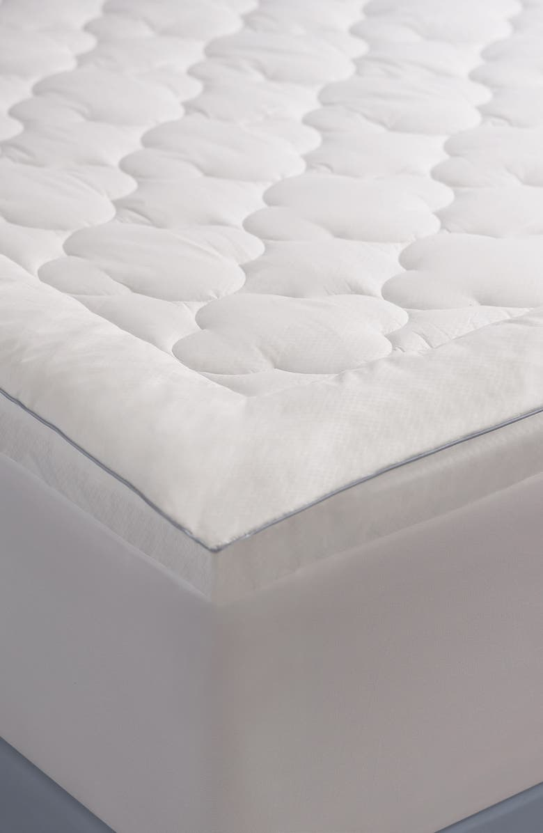 CLIMAREST Cooling Mattress Pad, Main, color, WHITE