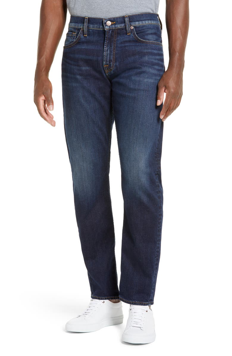 7 FOR ALL MANKIND Luxe Performance The Straight Slim Straight Leg Jeans, Main, color, CAMANO
