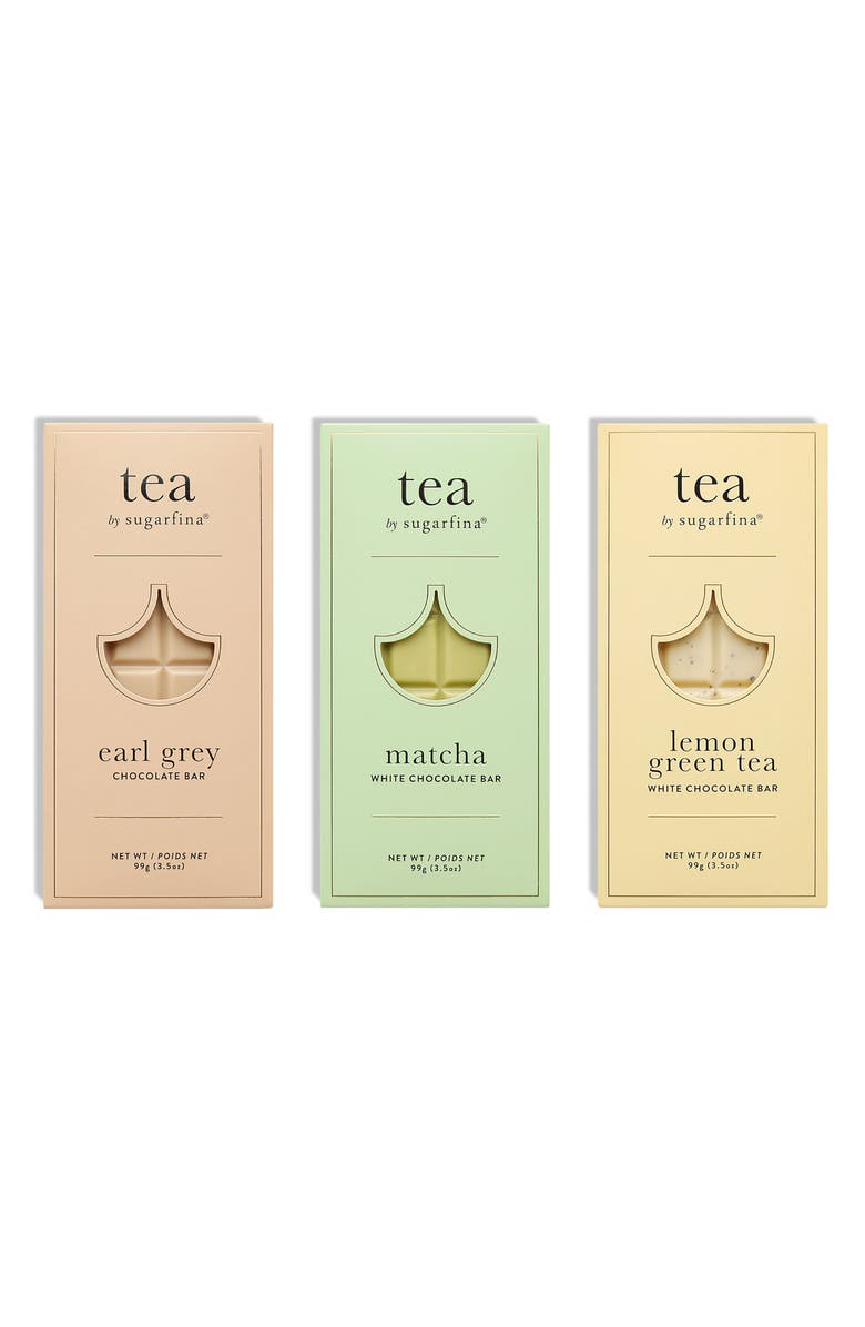 SUGARFINA Sereni Tea Set of 3 Chocolate Bars, Main, color, Blue