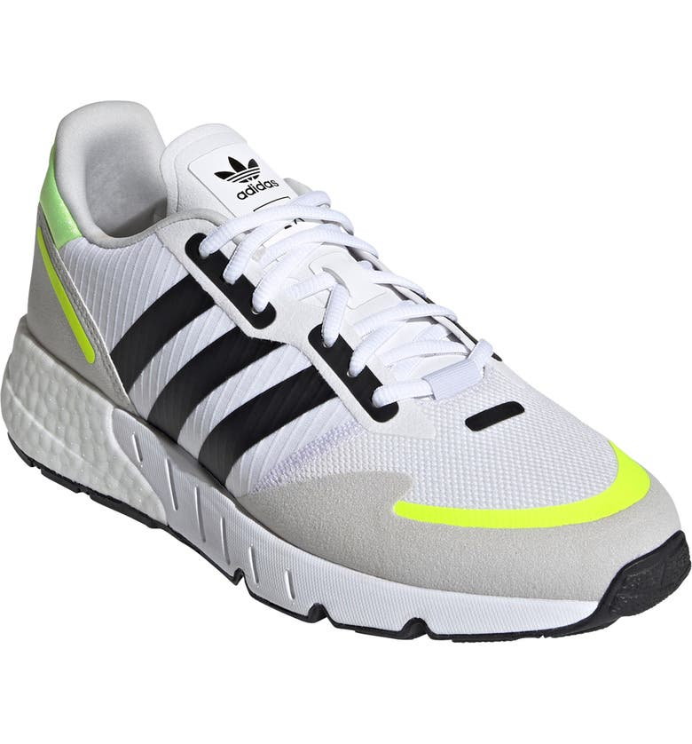 ADIDAS ZX 1K Boost Sneaker, Main, color, WHITE/ CORE BLACK/ YELLOW