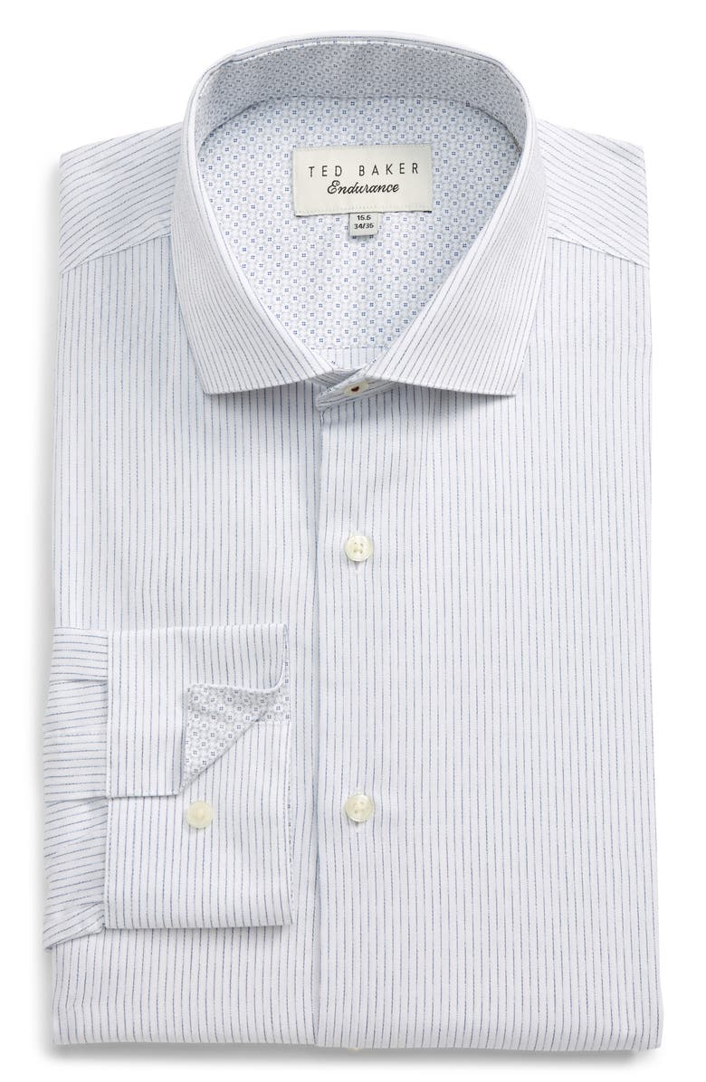 TED BAKER LONDON Slim Fit Stripe Dress Shirt, Main, color, 100