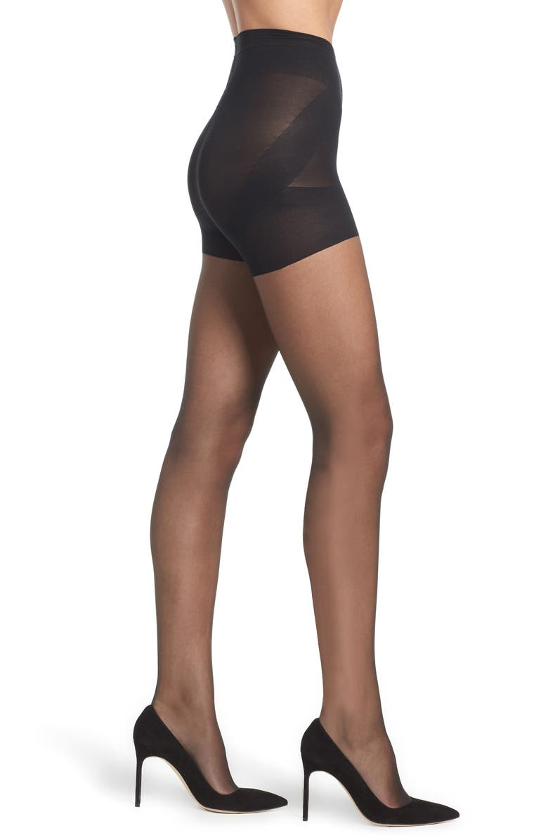 NORDSTROM Naked Sheer Mid Waist Pantyhose, Main, color, 001