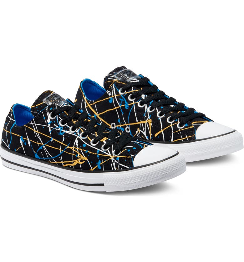 CONVERSE Chuck Taylor<sup>®</sup> All Star<sup>®</sup> Low Sneaker, Main, color, BLACK/ MULTI/ WHITE