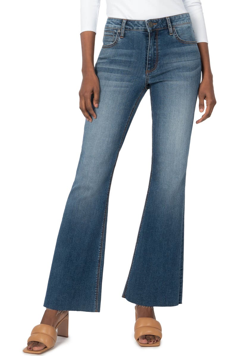 KUT FROM THE KLOTH Stella Fray Hem Flare Jeans, Main, color, PARADISE