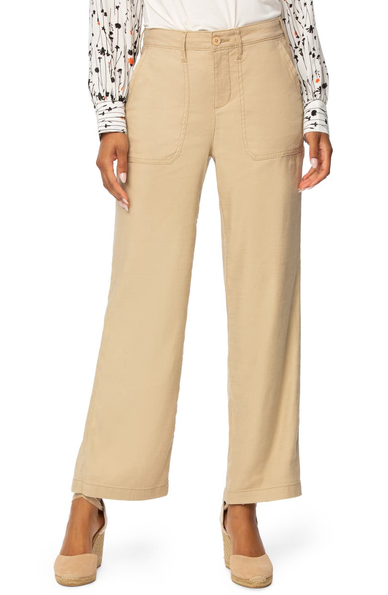 NYDJ The Trouser Linen Blend Pants, Main, color, WARM SAND
