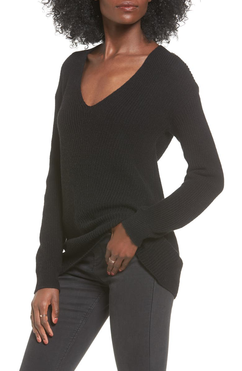 BP. V-Neck Sweater, Main, color, 001