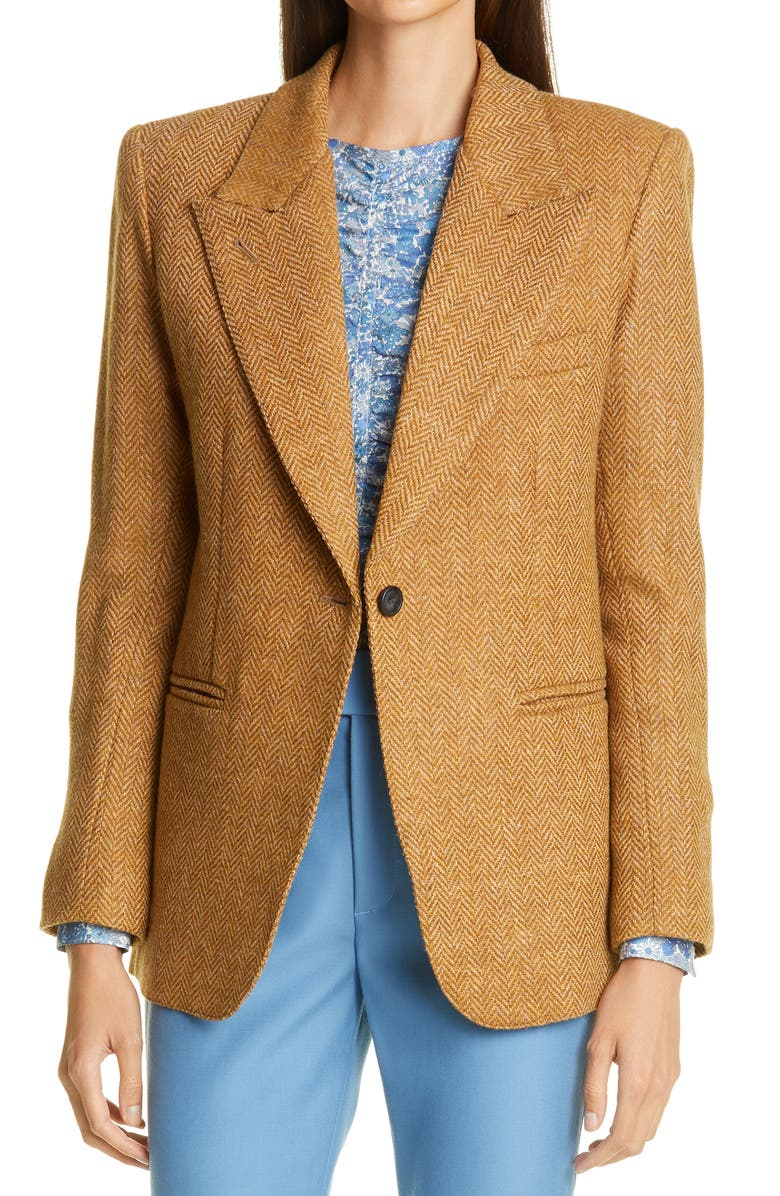 SMYTHE '90s Blazer, Main, color, TOFFEE HERRINGBONE