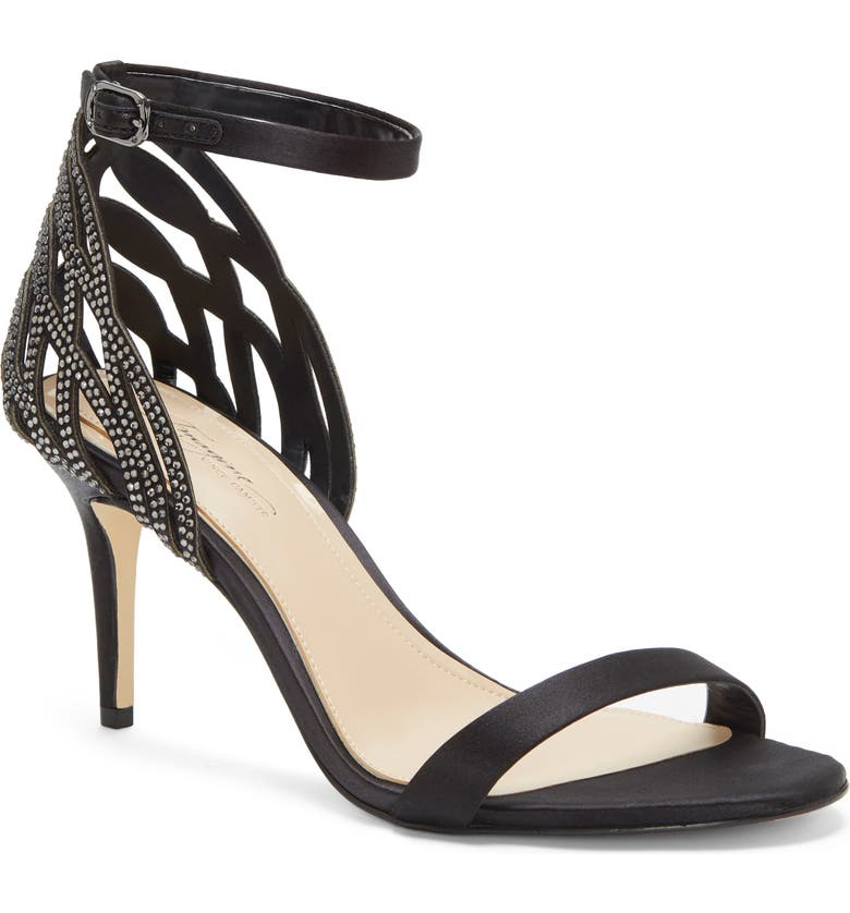IMAGINE BY VINCE CAMUTO Imagine Vince Camuto Pharra Crystal Ankle Strap Sandal, Main, color, 001