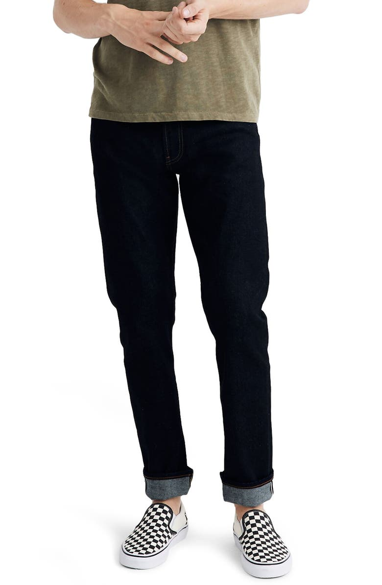 MADEWELL Selvedge Straight Jeans, Main, color, 400