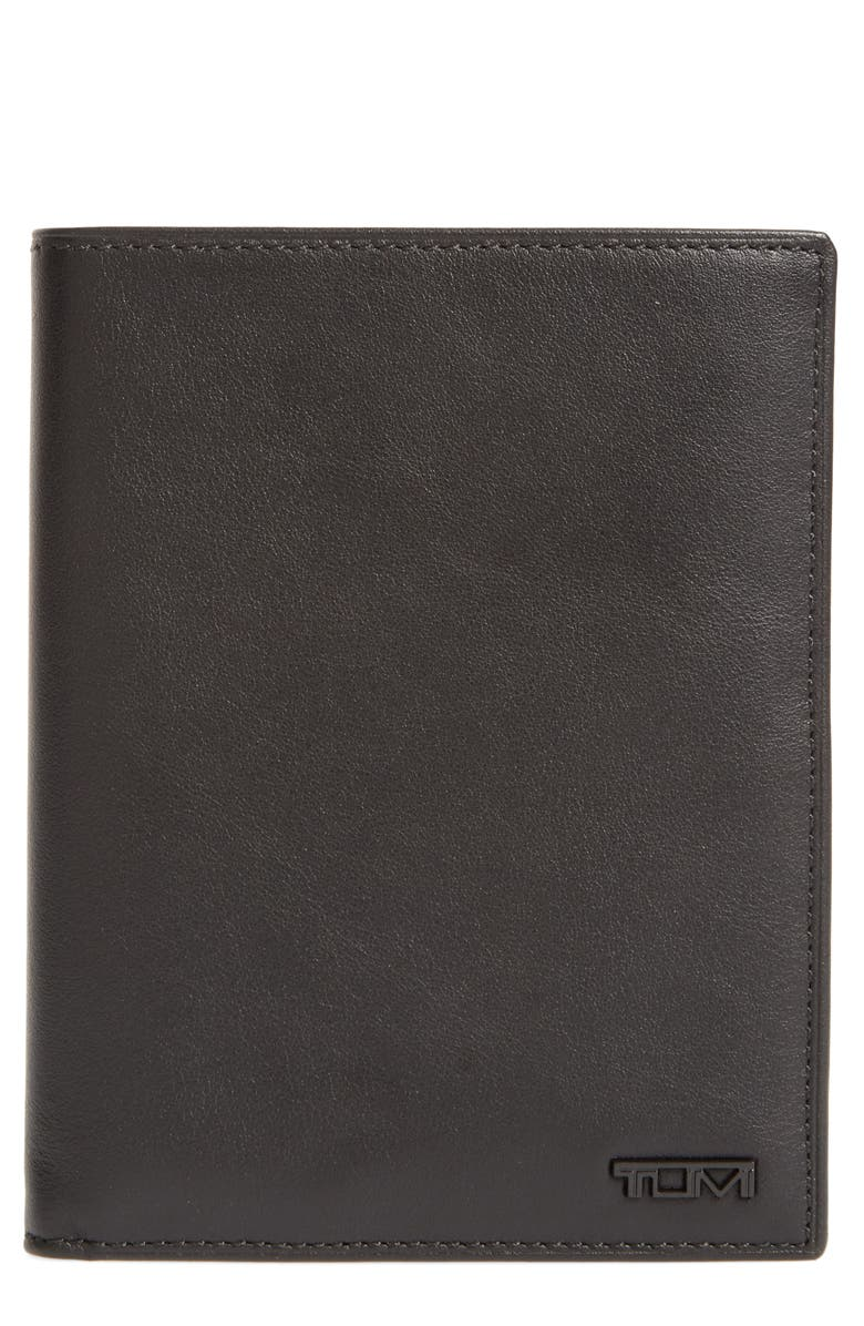 TUMI Delta Passport Case, Main, color, BLACK