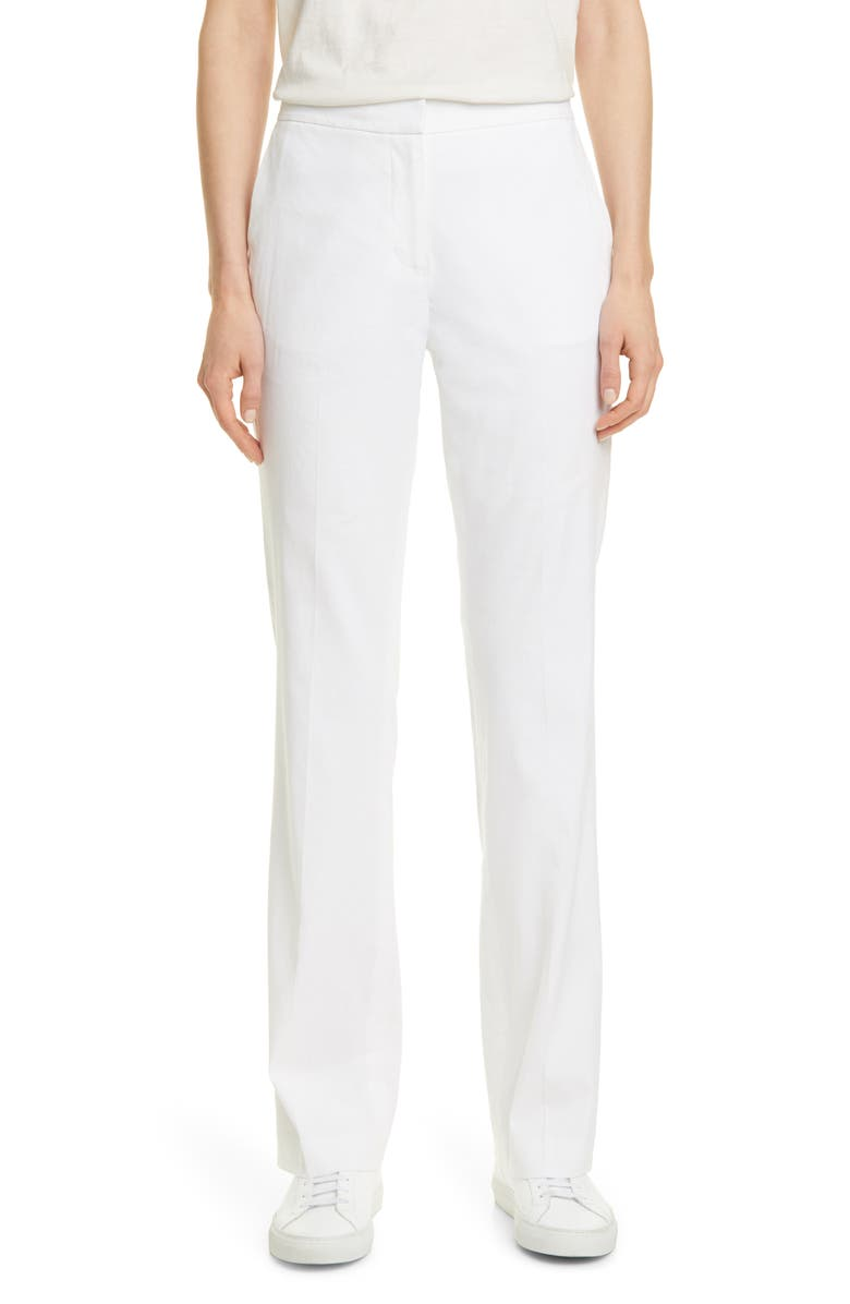 NORDSTROM SIGNATURE Linen Blend Pants, Main, color, 100