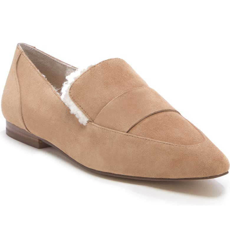 SOLE SOCIETY Bettina Loafer, Main, color, WALNUT/ NATURAL LEATHER