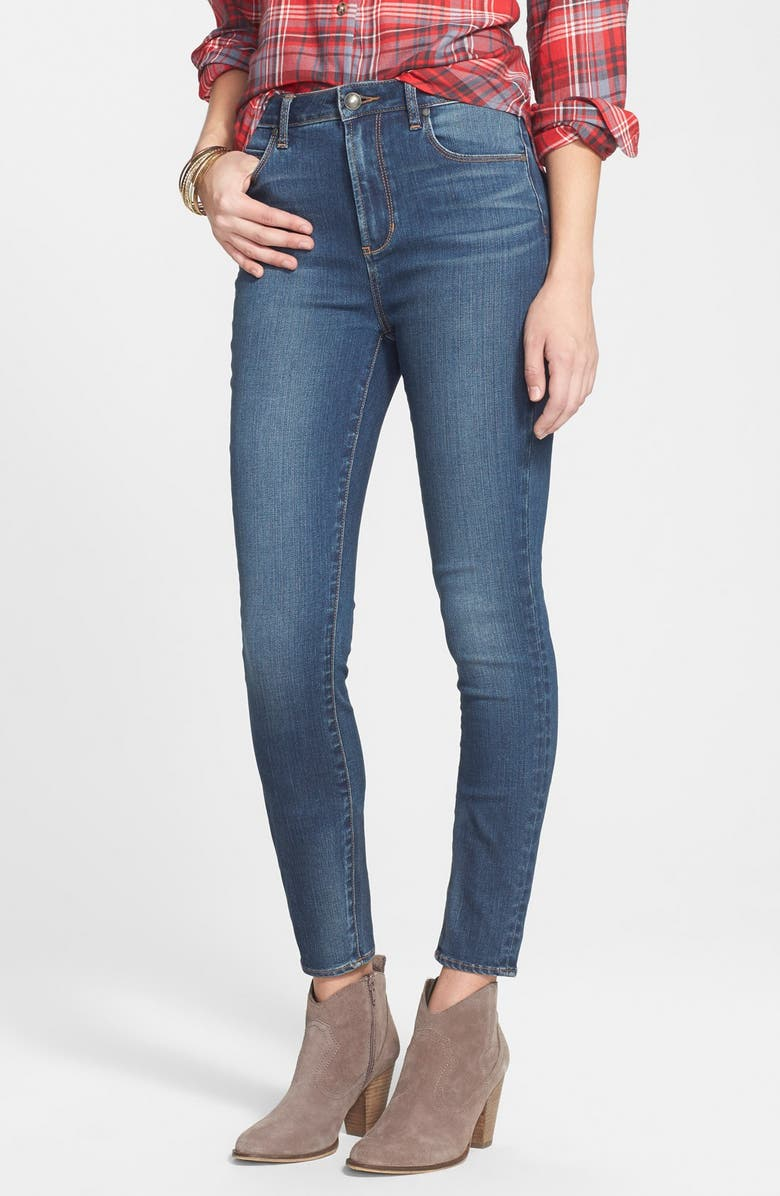 ARTICLES OF SOCIETY 'Halley' High Waist Stretch Skinny Jeans, Main, color, MEDIUM WASH