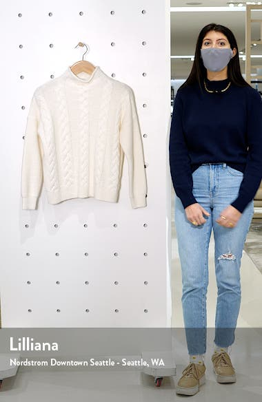 Grenville Cable Mock Neck Sweater, sales video thumbnail
