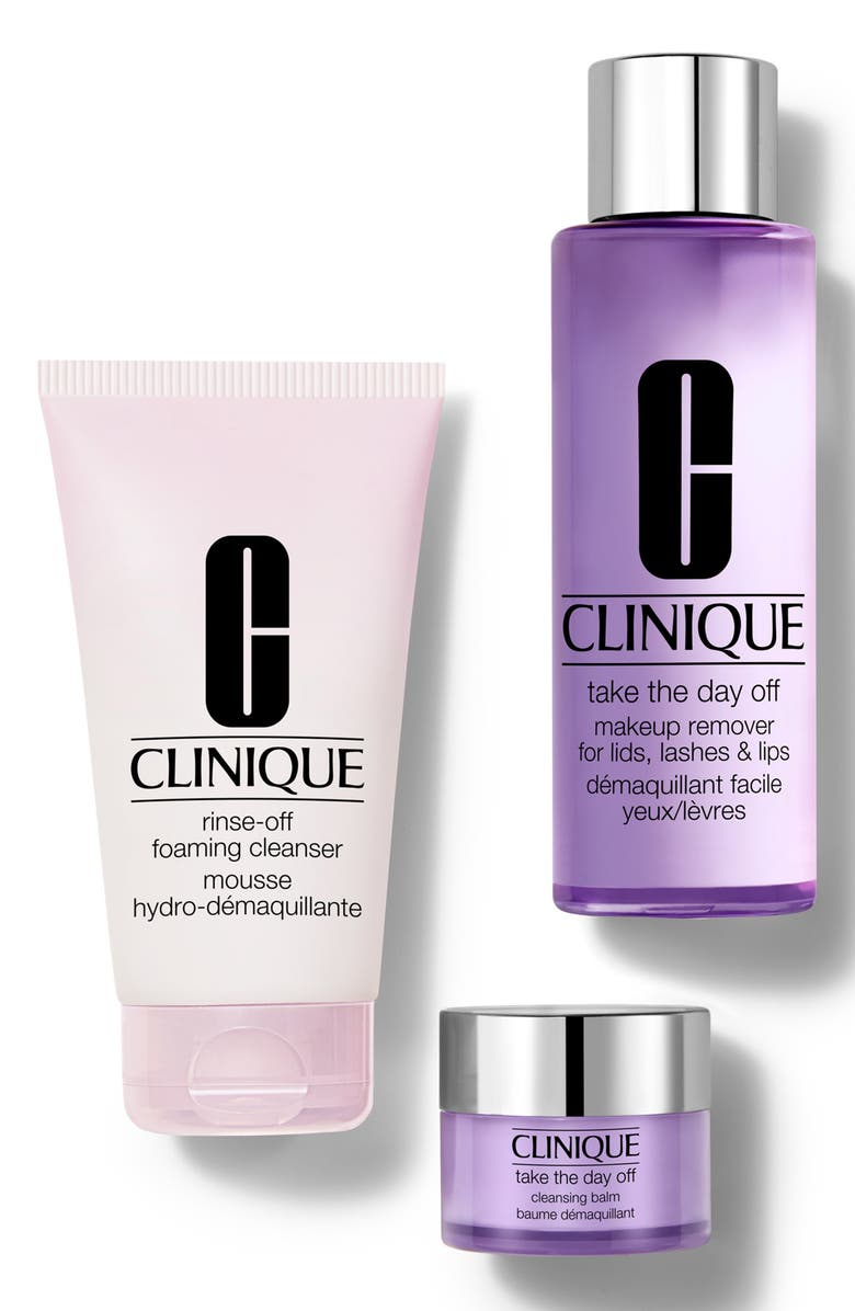 CLINIQUE Take It All Off: Makeup Remover Set, Main, color, 000