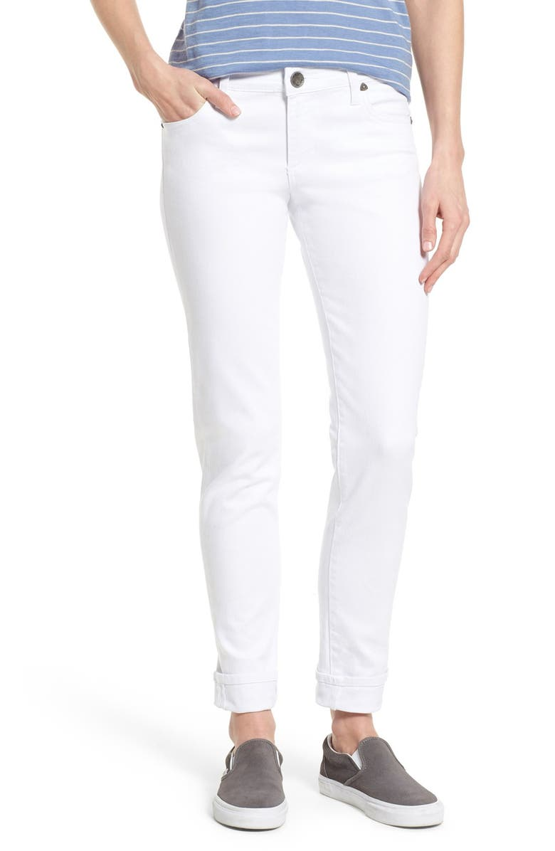 KUT FROM THE KLOTH 'Catherine' Boyfriend Jeans, Main, color, White