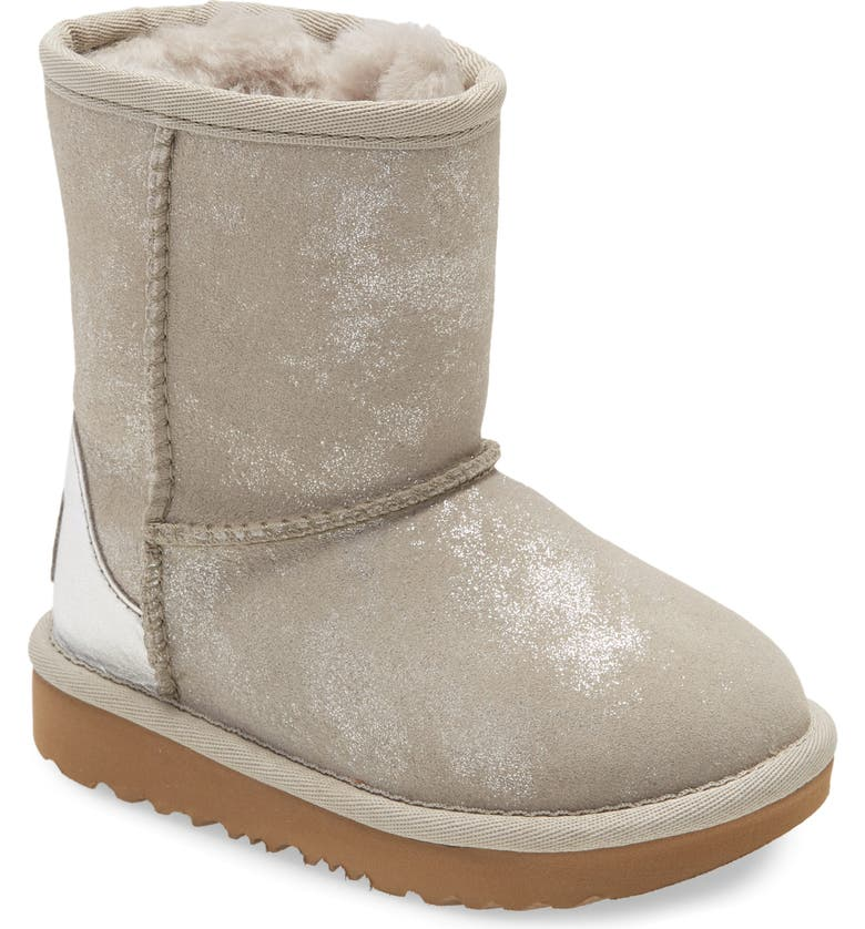 UGG<SUP>®</SUP> Classic II Shimmer Metallic Bootie, Main, color, GOAT