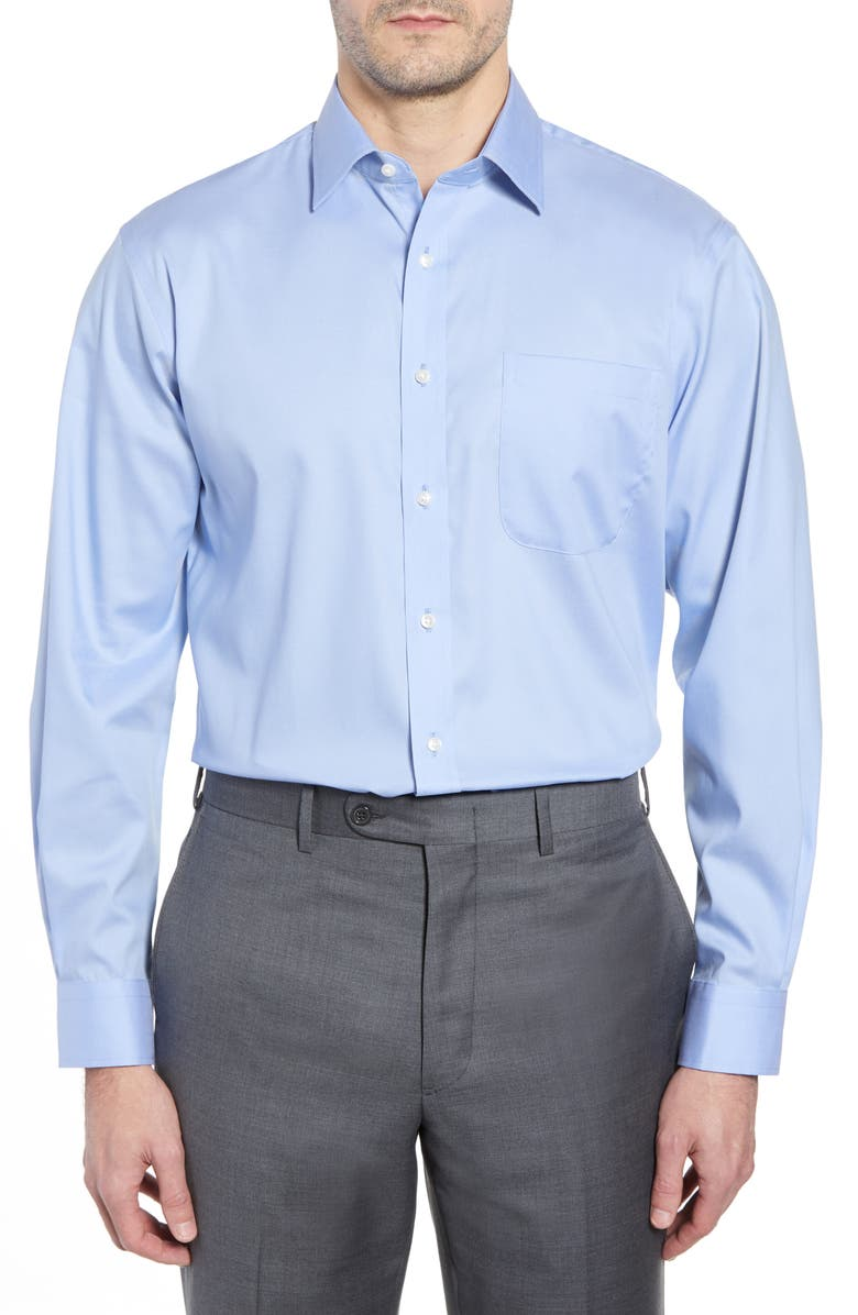 NORDSTROM Traditional Fit Non-Iron Dress Shirt, Main, color, BLUE AZURITE