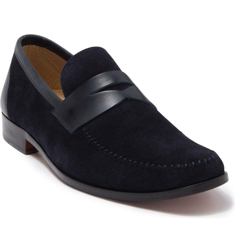 MAGNANNI Ramos II Penny Loafer, Main, color, NAVY