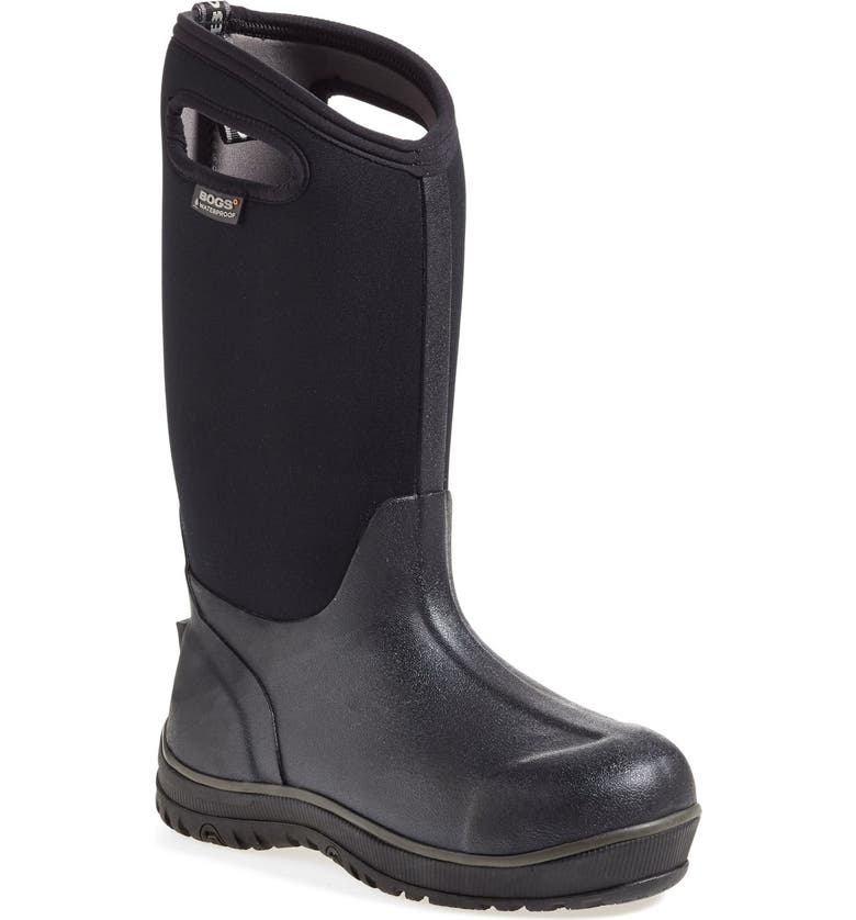 BOGS 'Classic' Ultra High Waterproof Snow Boot with Cutout Handles, Main, color, BLACK