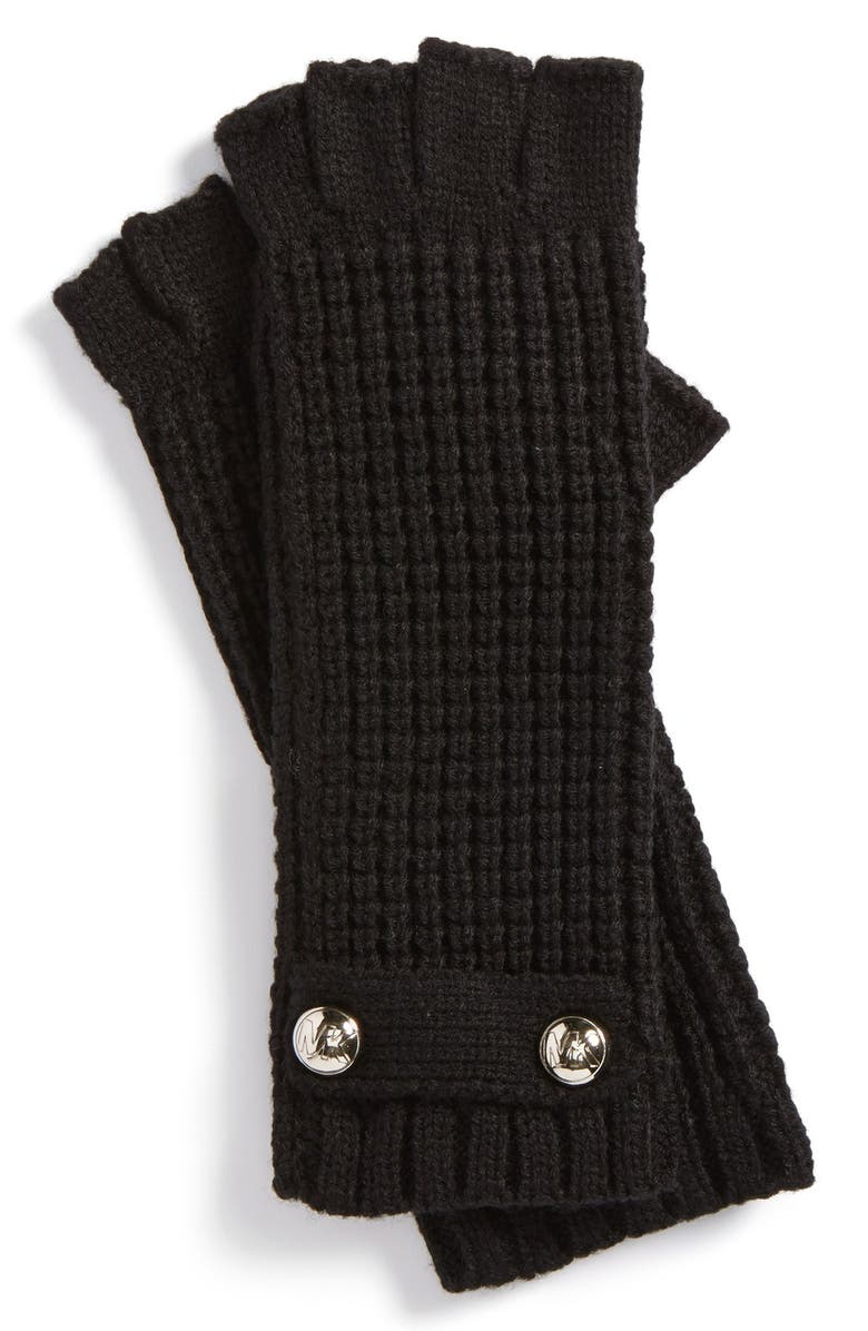 MICHAEL MICHAEL KORS Fingerless Gloves, Main, color, 001