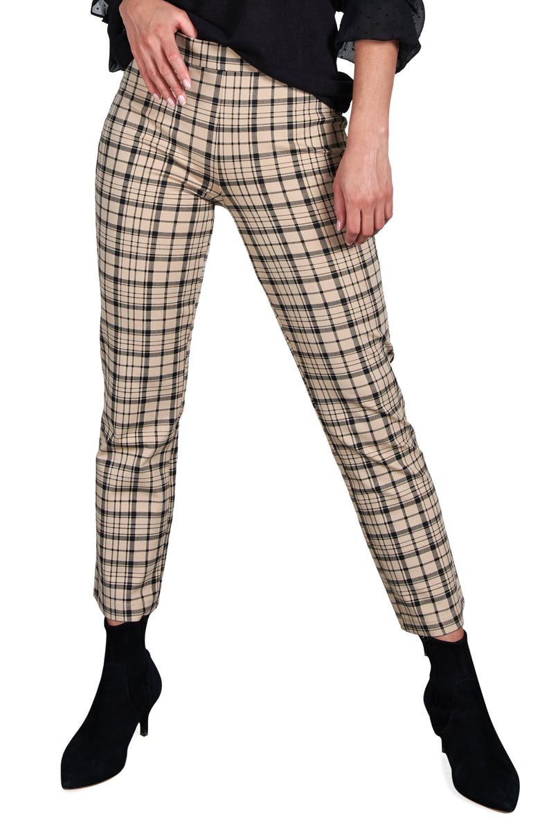 SANCTUARY Carnaby Kick Crop Pull-On Pants, Main, color, GLENWOOD P