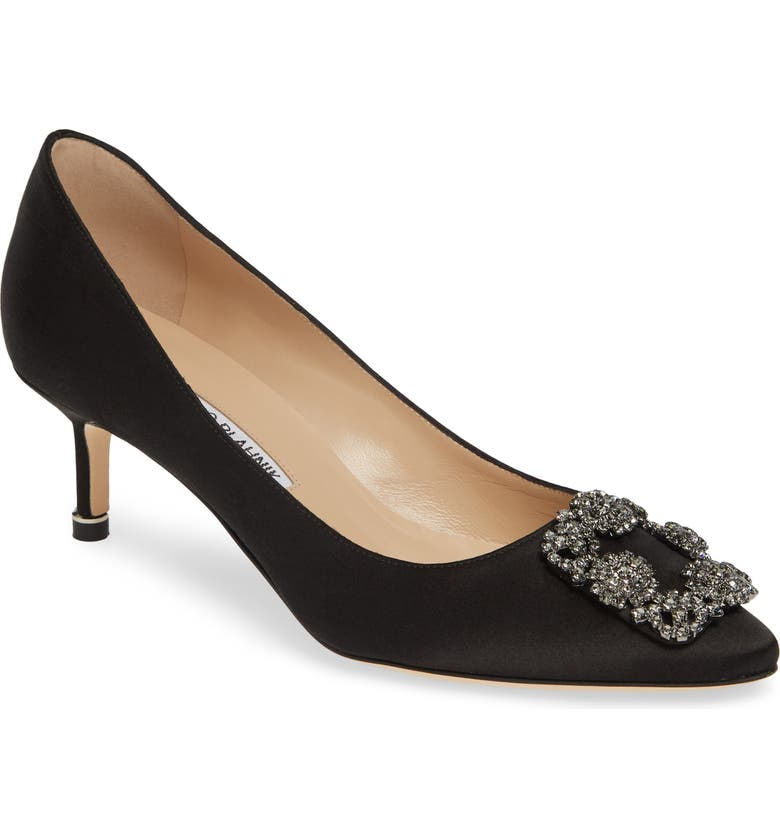 MANOLO BLAHNIK Hangisi Embellished Pointed Toe Pump, Main, color, 002
