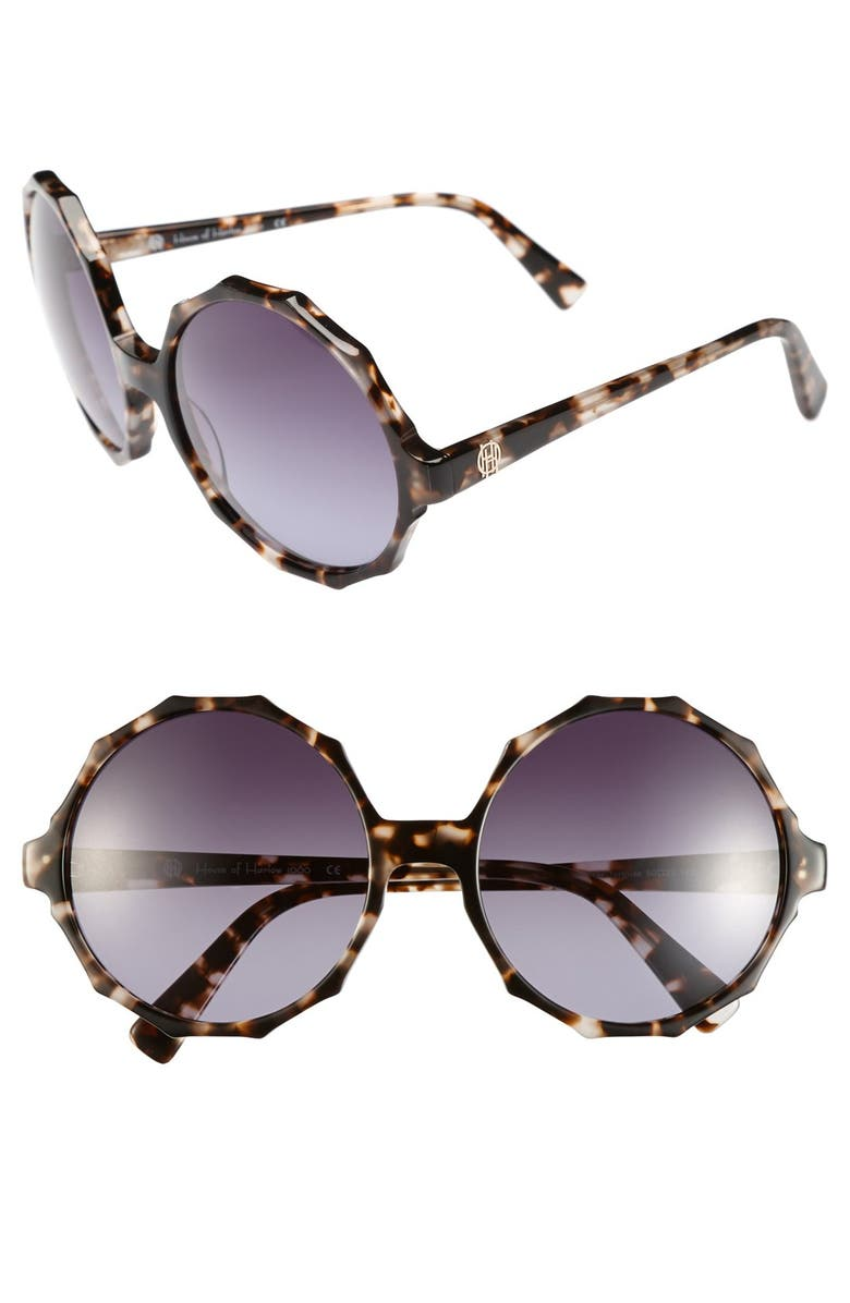 HOUSE OF HARLOW 1960 'Penny' 60mm Sunglasses, Main, color, CLEAR TORTOISE