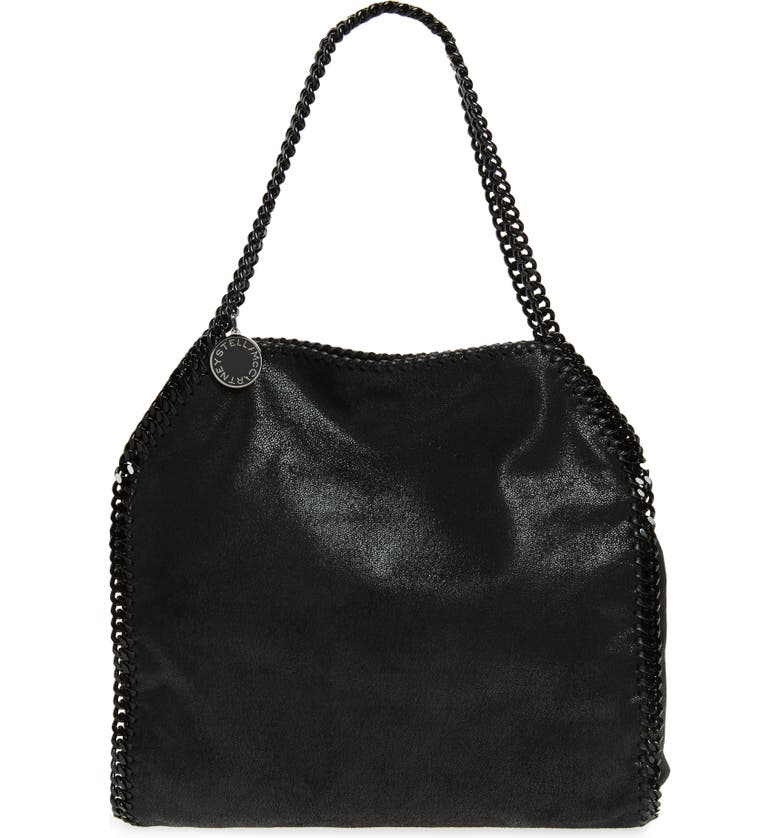 STELLA MCCARTNEY Small Falabella Shaggy Deer Faux Leather Tote, Main, color, 001
