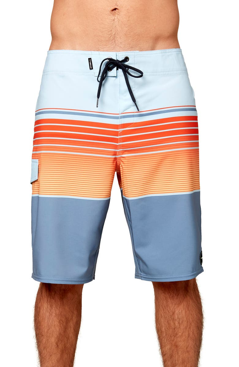 O'NEILL Lennox Hyperdry<sup>™</sup> Stretch Board Shorts, Main, color, BLUE