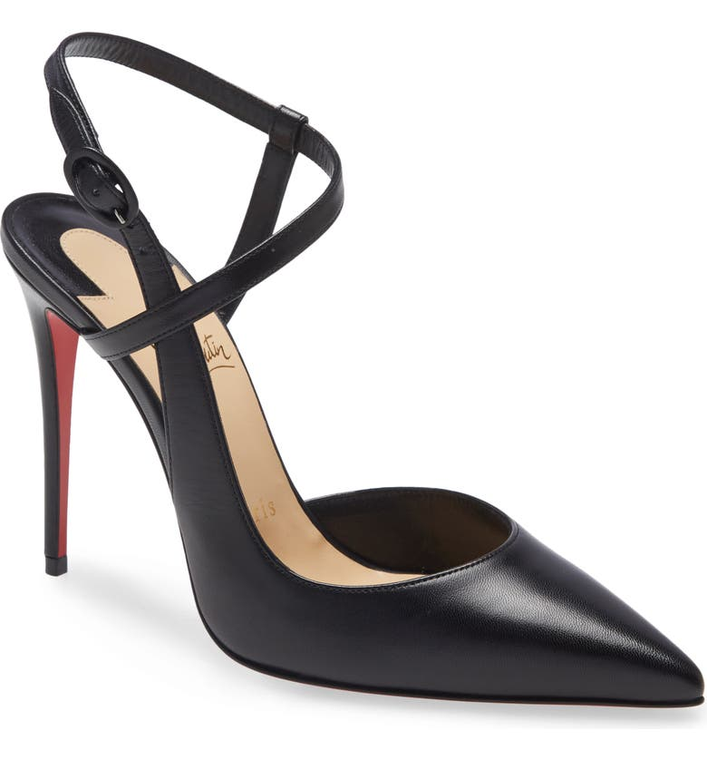 CHRISTIAN LOUBOUTIN Jenlove Ankle Strap Pointed Toe Pump, Main, color, BLACK