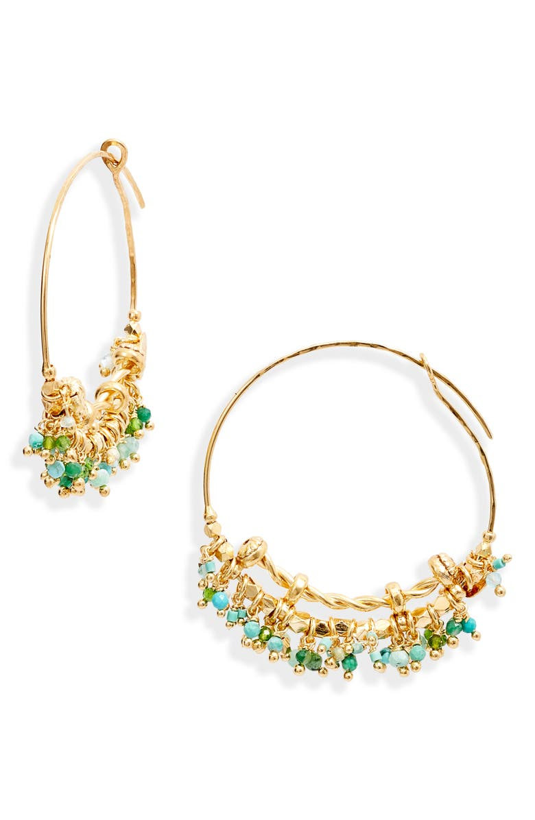 GAS BIJOUX Creole Grappia Hoop Earrings, Main, color, 310