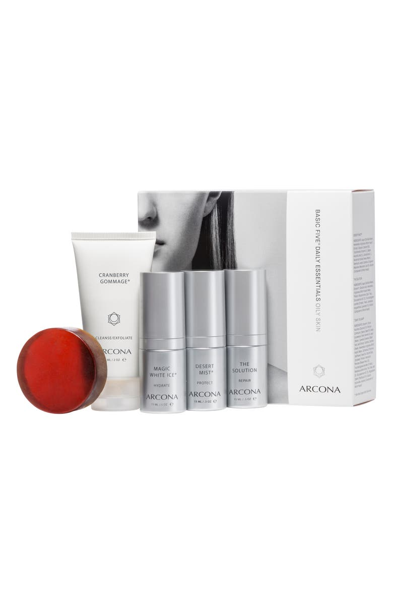 ARCONA Basic Five<sup>®</sup> Oily Skin Type Set, Main, color, No Color
