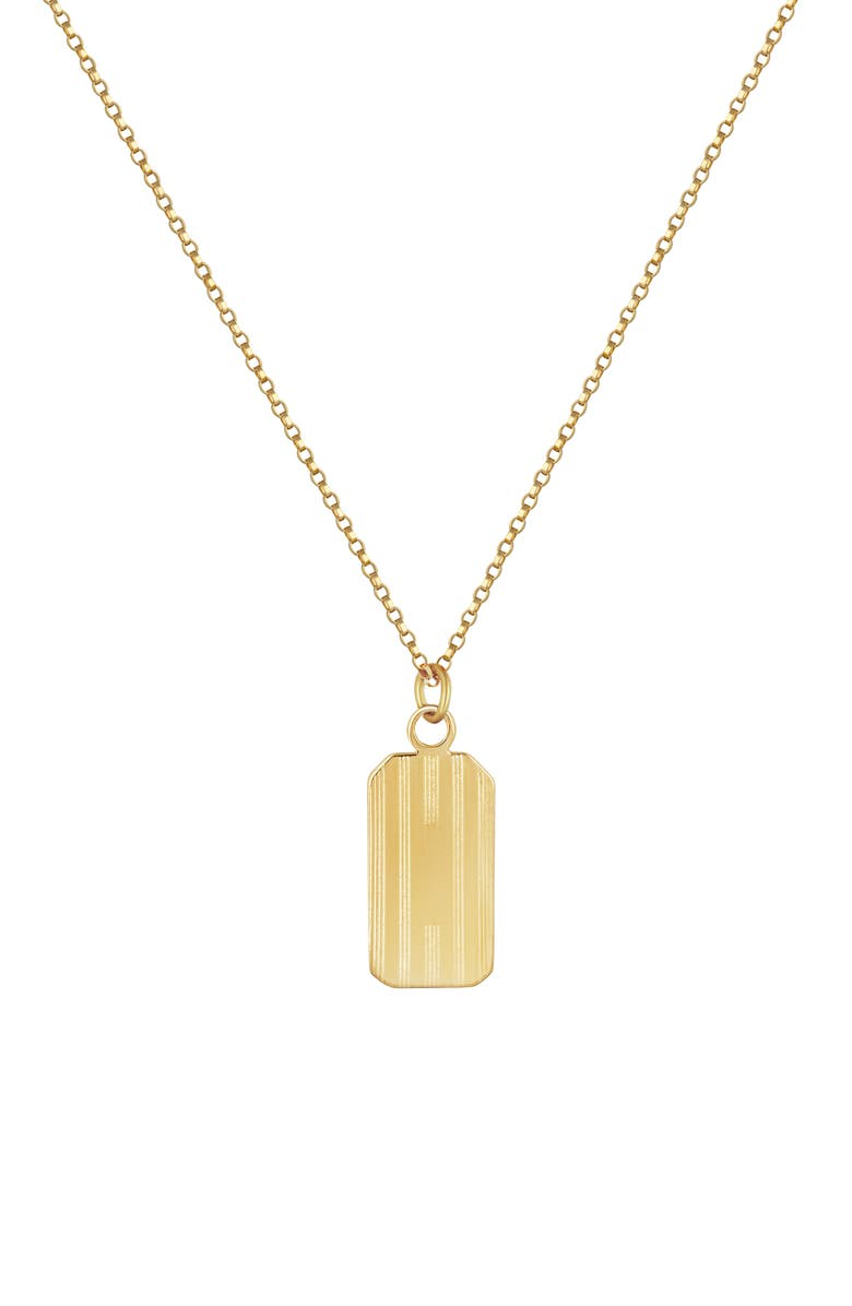 ELECTRIC PICKS Henley Tag Necklace, Main, color, GOLD